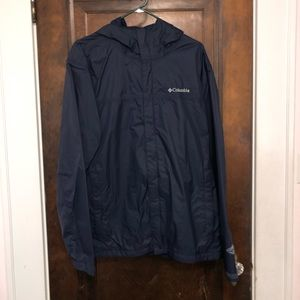 Columbia Navy Rain Jacket